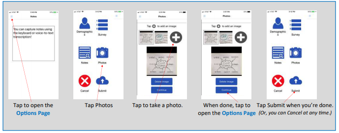 CAPTURE PHOTOSCapture Photos. Capture sketches, drawings, the Attendee's photo, or whatever you want.