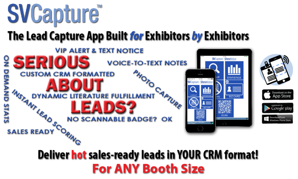 SVCapture Trade Show Lead Capture App-Are You Serious About Leads?
