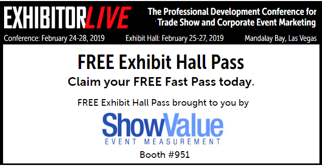 Free ExhibitorLIVE 2019 Exhibit Hall Pass