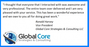 Testimonial-Global Core Strategies